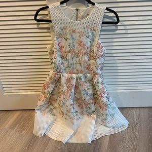 Erin fetherston white floral somerset dress